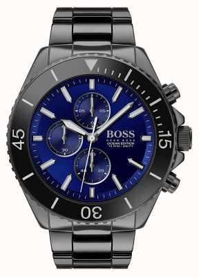 Boss | Men's Ocean Edition | Black Stainless Steel | Blue Dial | 1513743