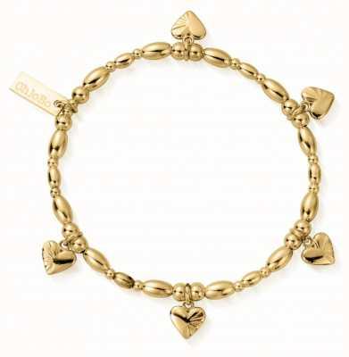 ChloBo | Sterling Silver Gold Plated ' Life Lover' Bracelet | GBLRSR2555