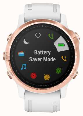 Garmin Fenix 6S Pro Gorilla Glass   Multisport Smartwatch   Rose Gold White Strap 010-02159-11
