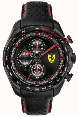 Scuderia Ferrari | Men's Speed-Racer | Black Leather Strap | Black Dial | 0830647
