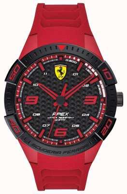 Scuderia Ferrari   Men's Apex   Red Rubber Strap   Black/Red Dial   0830664
