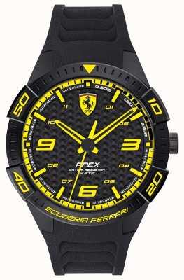 Scuderia Ferrari | Men's Apex | Black Rubber Strap | Black/Yellow Dial | 0830663
