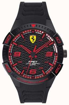 Scuderia Ferrari   Men's Apex   Black Rubber Strap   Black/Red Dial   0830662