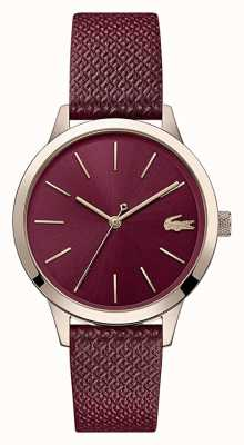 Lacoste | Women's 12.12 | Burgundy Leather Strap | Burgundy Dial | 2001092