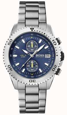 Boss | Vela | Chronograph | Steel Bracelet | Blue Dial | 1513775
