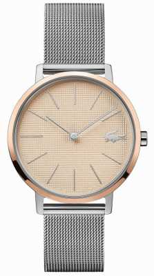 Lacoste | Women's Moon | Steel Mesh Bracelet | Rose Gold Dial | 2001072