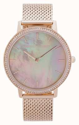 Rebecca Minkoff   Women's Major   Gold Mesh Bracelet   Mother Of Pearl Dial 2200369