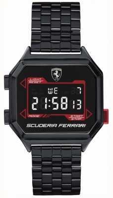 Scuderia Ferrari | Men's Digidrive | Ion Plated Bracelet | Black Dial | 0830704