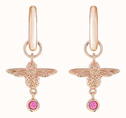 Olivia Burton | Mum To Bee | Huggie Hoop | Pink And Rose Gold | Earrings | OBJAME148