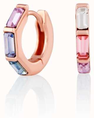 Olivia Burton   Rainbow   Huggie Hoop   Rose Gold Earrings   OBJCOE60