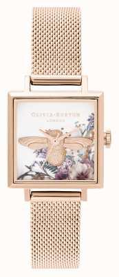 Olivia Burton | Womens | Enchanted Garden | 3D Bee | Rose Gold Mesh | OB16EG152