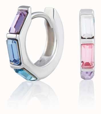 Olivia Burton   Rainbow   Huggie Hoop   Silver Earrings   OBJCOE61
