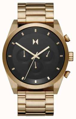 MVMT Element Chrono | Gold Plated Steel Bracelet | Black Dial | 28000047-D