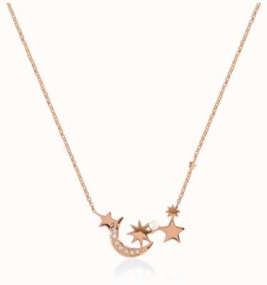 Radley Jewellery Star Gazing   Rose Gold Plated Pearl And Stars Necklace   RYJ2106S