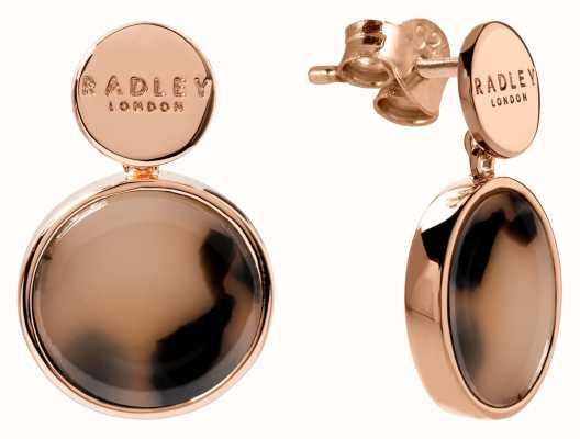 Radley Jewellery Wild Side   Rose Gold Plated Torte Earrings   RYJ1114S