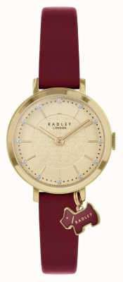 Radley Selby Street | Burgundy Leather Strap | Gold Dial | RY2862