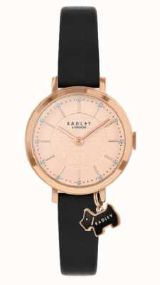 Radley Selby Street   Black Leather Strap   Rose Gold Dial   RY2928