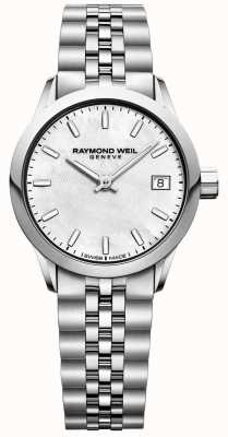 Raymond Weil Womens   Freelancer   Mother Of Pearl Dial   Stainless Steel 5626-ST-97021