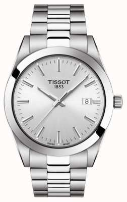 Tissot   Gentleman   Stainless Steel Bracelet   Silver Dial   T1274101103100