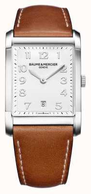 Baume & Mercier Mens Hampton   Brown Leather Strap   White Dial BM0A10153
