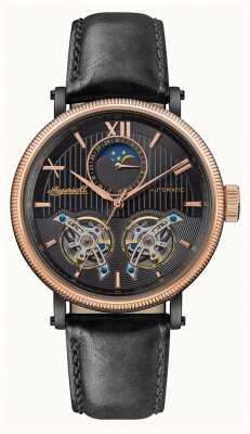 Ingersoll | The Hollywood Automatic | Black Leather Strap | Black Dial I09601