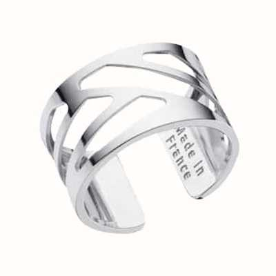 Les Georgettes 12mm Ruban Silver Finish Ring (52) 70296051600052