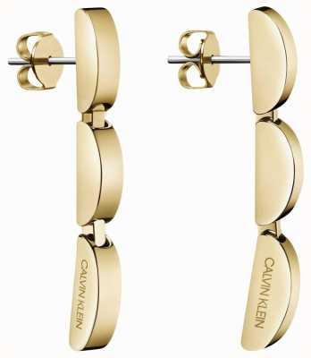 Calvin Klein   Small Gold Tone Wave Drop Earrings   KJAYJE100200