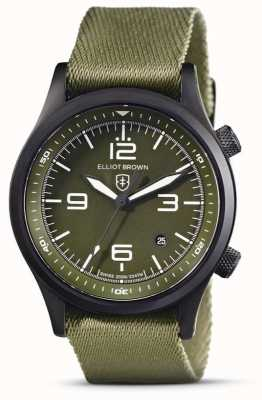 Elliot Brown Mens | Canford | Green Dial | Green Fabric Strap 202-024-N08