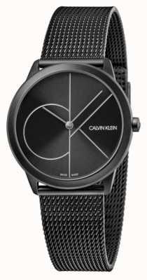 Calvin Klein Unisex | Minimal | Black PVD Mesh | Black Dial K3M5245X