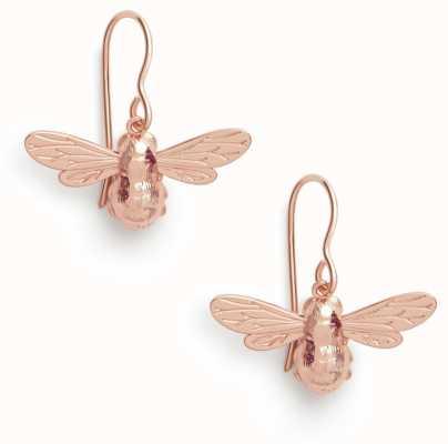 Olivia Burton   Lucky Bee   Rose Gold   Sleeper Earrings   OBJAME173N