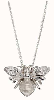 Elements Gold   9 Carat White Gold   Detailed Bee   Pendant Only   GP2227