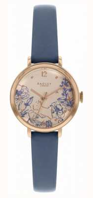 Radley   Women's Navy Leather Strap   Floral Print Dial   RY2978