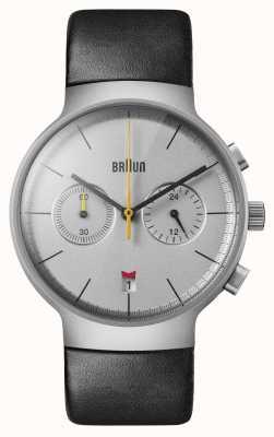 Braun Men's | Classic | Chronograph | Black Leather BN0265SLBKG