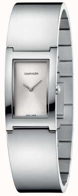 Calvin Klein | Polish | Stainless Steel Bracelet | Silver Rectangle Dial K9C2N116