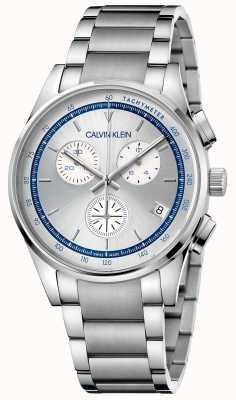 Calvin Klein | Completion | Stainless Steel Bracelet | Silver/Blue Dial | KAM27146