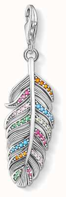 Thomas Sabo | Charm Pendant Feather | Sterling Silver Multi-Coloured 1832-342-7