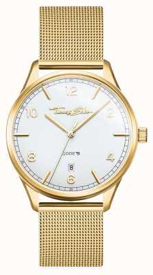 Thomas Sabo | Glam And Soul | Women's Gold Mesh Bracelet | White Dial WA0361-264-202-36