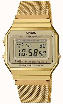 Casio | Collection | Steel Mesh Bracelet | Digital Dial A700WEMG-9AEF