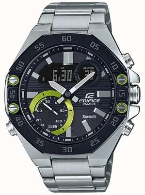 Casio | Edifice Bluetooth | Stainless Steel | Black Dial ECB-10DB-1AEF