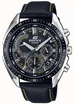 Casio | Edifice | Chronograph | Black Leather Strap | Black Dial EFR-570BL-1AVUEF