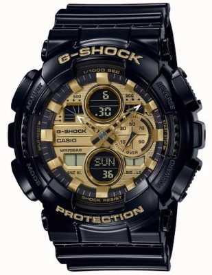 Casio G-Shock World Time   Black Rubber Strap   GA-140GB-1A1ER