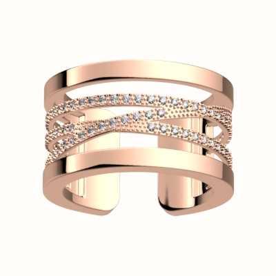 Les Georgettes 12mm Liens CZ Pattern Rose Gold Ring (52) 70305224008052