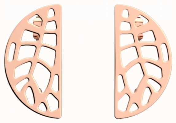 Les Georgettes 30mm Fougere Rose Gold Plated Half Moon Stud Earrings 70316554100000