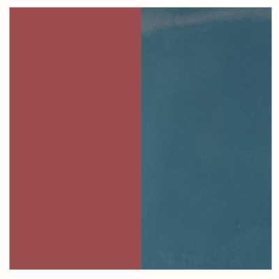 Les Georgettes 30mm Vinyl Insert   Earrings   Denim Blue/Burgundy 703218384BH000