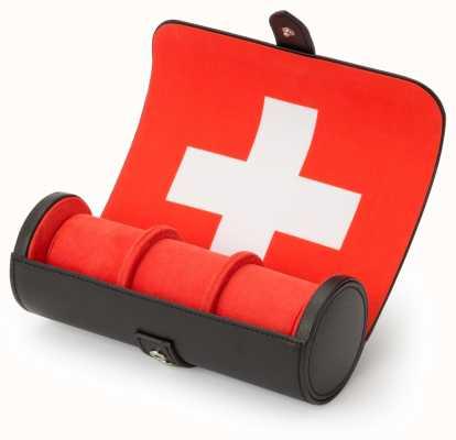 WOLF Navigator Swiss Flag Triple Watch Roll 470804