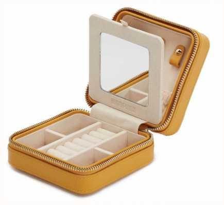 WOLF Maria Mustard Small Zip Jewellery Case 766293