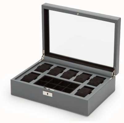 WOLF Howard Grey 7Pc Watch Box With Tray 465265