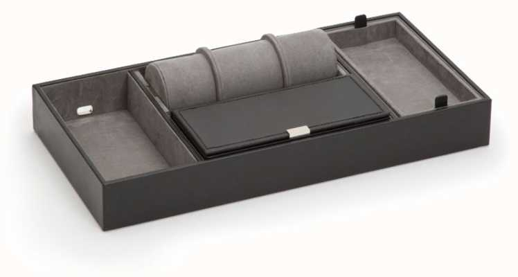 WOLF Howard Black Valet Tray With Roll 465103
