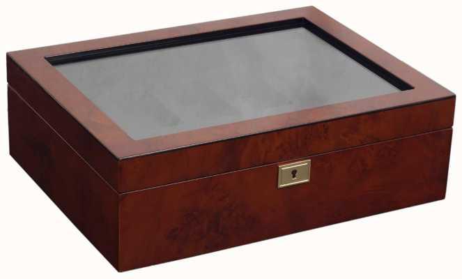 WOLF Savoy Burlwood 10Pc Watch Box 461610