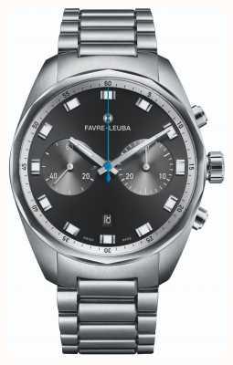 Favre Leuba Sky Chief Chronograph | Stainless Steel Bracelet |Black Dial 00.10202.08.11.20